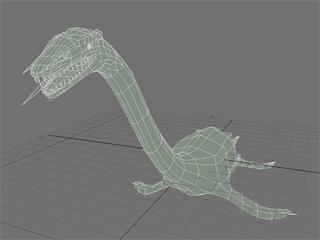 首長竜モデル制作画面